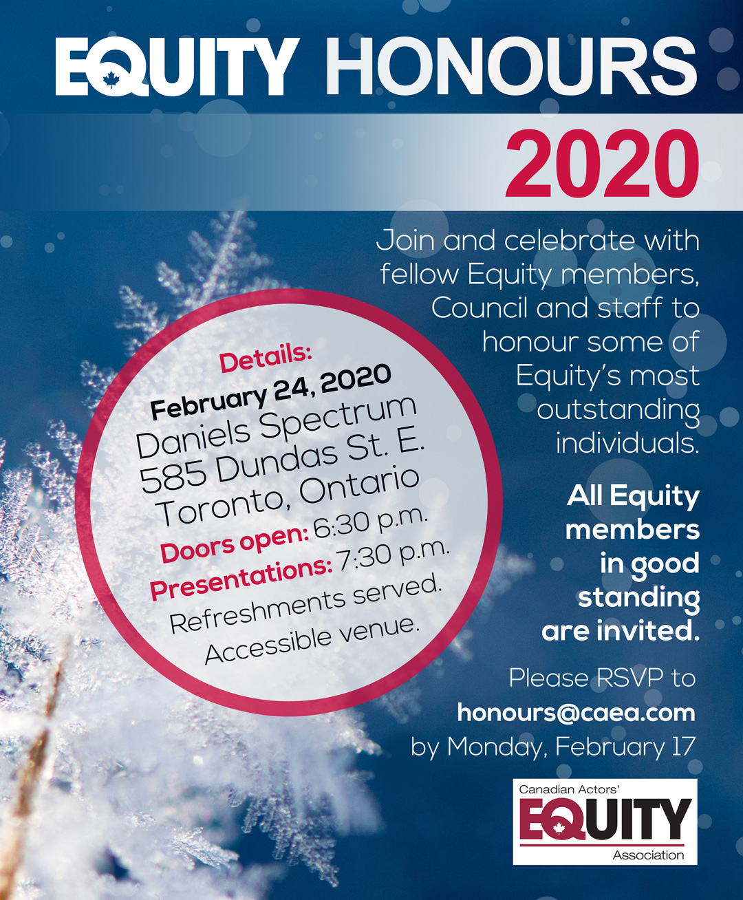 Equity Honours 2020 Invitation